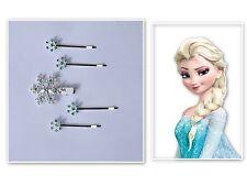 PINZAS DE PELO Copos Nieve Reina del hielo Frozen Elsa Apretones azul plata