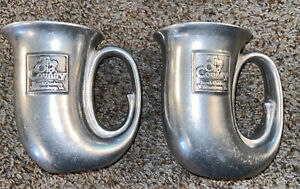 2 Busch Gardens The Old Country Pewter Cups Mugs With Handles. Park Memorabilia
