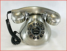 Polyconcept 50's Monster Phone Silver Brush Metal Reproduction Retro Telephone