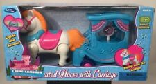 Animated Horse & Carriage Play Set With Lights & Sounds Bump & Go Action New