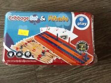 Cribbage Set & Mikado Plus Draughty Set