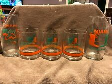 University of Miami Hurricanes College Football Logo Glass variety