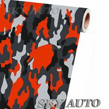 Red Orange Black White Gray Camo Vinyl Car Wrap Sheet Free Tools 2 Feet Amp Up