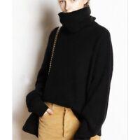 Damenmode Pullover Rolli Lagenlook Kaschmir Lammwolle Sweater Oversize Weihnacht