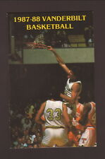 Vanderbilt Commodores--Will Perdue--1987-88 Basketball Schedule-American General