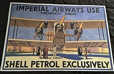 """1969 Imperial Airways Shell-Mex Petrol & BP Limited Color Print-20"""" X 29 3/4"""""""