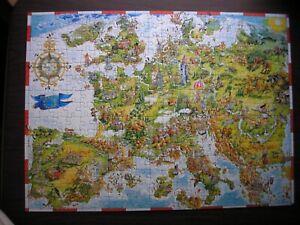 """Ravensburger Puzzle 300 piece Map of Europe 19"""" x 14""""  Landmarks & Symbols"""