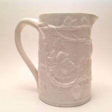 """Vintage Spode England 6"""" Water Milk Pitcher Grape Vine Leaf Grapevine Porcelain"""