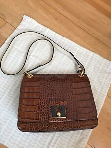 Orla Kiely Croc Leather Mini Ivy Bag
