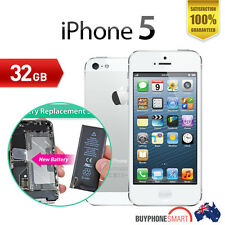 Apple iPhone 5-32GB White USED unlocked Excellent condition_B@ttery Replaced