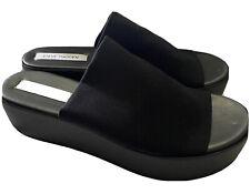 Women's Steve Madden Slinky Black Platform Slides Size 9 M Brand New Rare