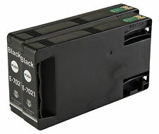 2 Black T7021 non-OEM Ink Cartridge For Epson Pro WP-4545DTWF WP-4595DNF