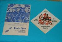 vintage BURCH'S PERSIAN ROOM MENU & NAPKIN Vancouver Washington