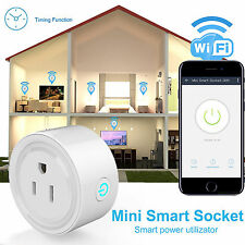 Wireless Mini WiFi Smart Remote Control Timer Switch Power Socket Outlet US Plug