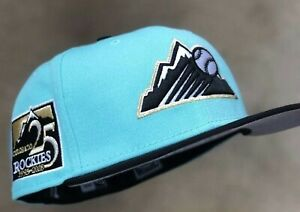 SHIPPED Hat Club Exclusive Mint Colorado Rockies 25th Anniversary 7 1/4 Velvet