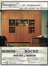 B- Publicité Advertising 1966 Mobilier Meubles Rangéco Bobois et Roche