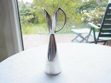 Schöne 70 iger Jahre 925 Silber Vase Handarbeit sign H J aus Dänemark