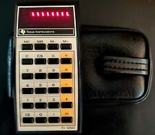 Vtg Texas Instruments Ti-1250 Electronic Calculator with Case New Battery Usa