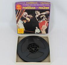 Vintage George Foreman Beats Joe Frazier It's Murder in Jamaica B/W Super 8mm