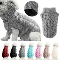 Pet Cat Dog Warm Jumper knitted Sweater Clothes Knitwear Costume Coat Apparel