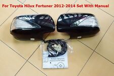 TOYOTA HILUX FORTUNER 2012-2014 BLACK COVER WING MIRROR WITH SIGNAL LAMP