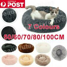 Pet Dog Cat Calming Bed Warm Soft Plush Round Nest Comfy Sleeping Kennel Cave 🔥