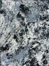 Modernist ABSTRACT PAINTING Expressionist MODERN ART B & W SOUL BODY MIND FOLTZ