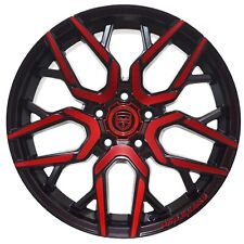 4 GWG NIGMA 18 inch Crimson Red Rims fits CHEVY CAMARO LS - LT 2010 - 2015