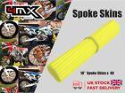 "Wheel Spoke Protectors Neon Yellow 18"" fits Yamaha DT50 SM Supermotard 2"