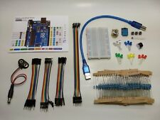 Starter kit for Arduino: breadboard, jumper wires, LEDs, resistors and more