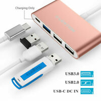 LENTION 4 Ports USB C HUB to USB 3.0 PD Charger Adapter for MacBook Pro Windows