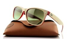 NEW Genuine RAY-BAN NEW WAYFARER Matte Beige Opal Red Sunglasses RB 2132 6307/A6