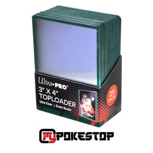 Toploader Ultra Pro - 25 Protections Semi-Rigides pour Cartes - Bordure Verte
