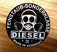 UMWELTPLAKETTE FEINSTAUB SONDERKLASSE Diesel Aufkleber Sticker Feinstaubplakette