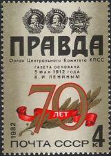 Rusia 1982 Pravda/Diarios/Papeles/comunicación/personas/impresión 1 V (ru1008)