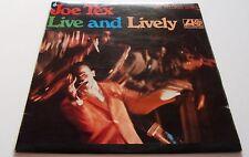 JOE TEX LIVE AND LIVELY 1968 ATLANTIC ALBUM  EXCELLENT EXAMPLE