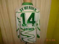 """Werder Bremen Puma Langarm Matchworn Meister Trikot 1992/93 """"DBV"""" + Nr.14 Gr.M"""