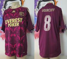 Olympique Lyonnais Lyon 2010 2011 Adidas Away Gourcuff #8 Soccer Shirt Jersey L