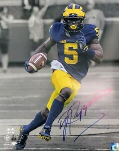 JABRILL PEPPERS MICHIGAN WOLVERINES 16x20 (16-2) AUTOGRAPHED PHOTO - (OSG COA)