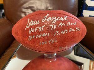 Seahawks HOF Steve Largent Autographed Football Career Stats - Fanatics LE/24