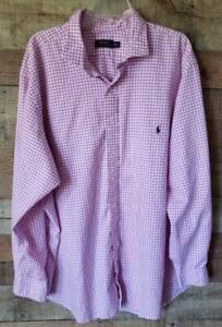 Mens Polo Ralph Lauren 3XB Big Tall 3XL Pink Check Button Down Shirt