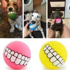 Indestructible Solid Rubber Ball Pet Dog Toy Training Chew Toys Play Bite AU FA