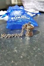 Pommery Champagne Cork Keyring Silver Gift Charm in Voile Bag