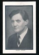 Staffordshire Staffs WOLVERHAMPTON Grand Theatre Henry Ainley Advert PPC