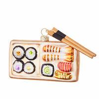 Sushi & Chopsticks Glass Ornament  Eric Cortina New