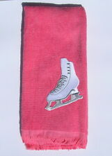 Ice figure skate skating blade hand fingertip TOWEL new pink FREE SHIP
