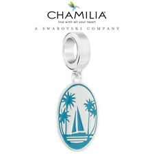 Genuine CHAMILIA 925 Silver & Enamel SAIL AWAY Charm holiday beach