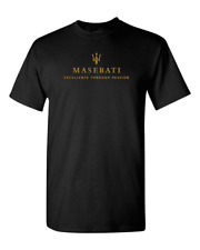 Maserati Excellence Through Passion Racing Sport SuperCar Black T-Shirt