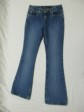 Squeeze Stephen Hardy Medium Wash Flare Jeans Women's Size 3/4