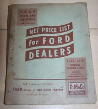 VINTAGE FORD NET PRICE LIST FOR FORD PARTS AND ACCESSORIES 1928-1955